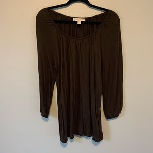 Women's Michael Kors Brown flowy blouse